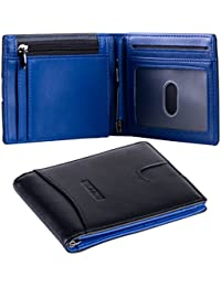BIZZCA RFID Blocking Slim Wallet for Men - Made with Genuine Leather