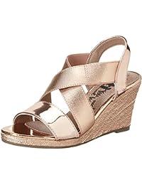 Xti Nude Mirror Pu Ladies Sandals ., chaussures compensées femme