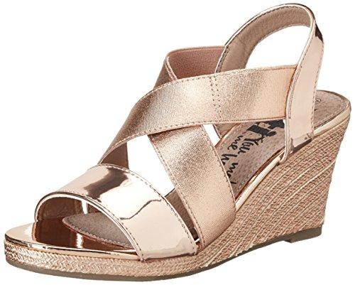 XTI - Nude Mirror Pu Ladies Sandals ., Scarpe con plateau Donna Pink (Nude)
