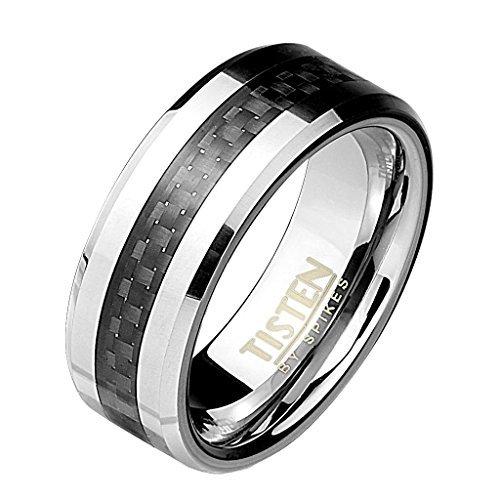 Coolbodyart Tapsi´s Band Ring Titan Wolfram Carbon 8mm Breit Schwarz 60(19) - Schädel-ringe-titan