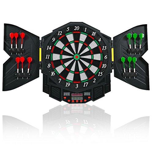 COSTWAY Elektronische Dartboard Dartscheibe Dartautomat LED Dartspiel + 12 Dartpfeil
