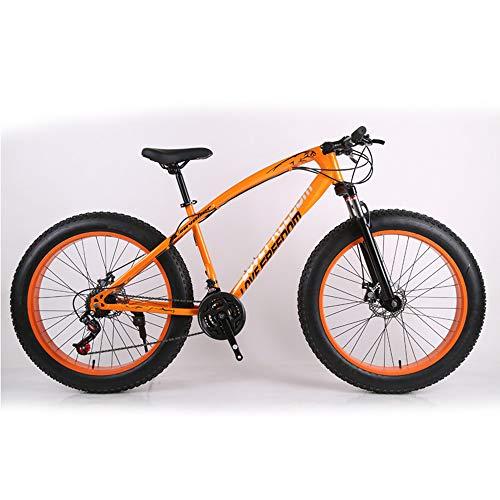 LISI 26 Zoll Geländewagen ATV 24 Geschwindigkeit Schneemobil Geschwindigkeit Mountainbike 4.0 großen Reifen Breiten Reifen Fahrrad,Orange
