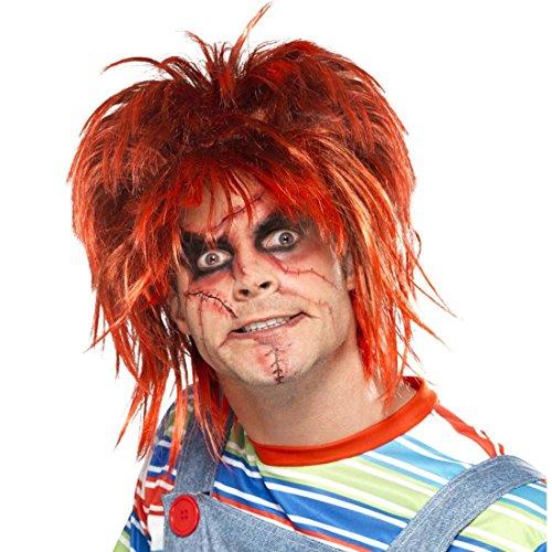 chminkset Narben Makeup-Set Chucky schwarz-rot Beauty Kit Wunden Mörderpuppe schminken Kosmetik Zombiepuppe Narben-Tattoos ()