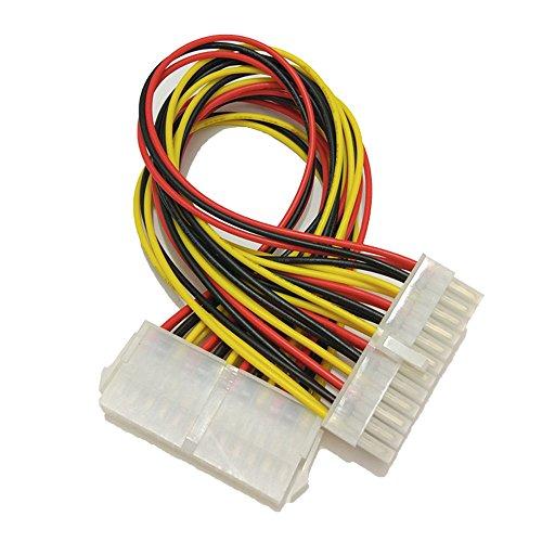 Yowablo 24Pin Power Verlängerungskabel ATX PC PSU Stecker und Buchse Port M/F Expander 24.5CM (Gelb)