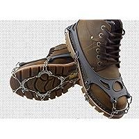 KaLaiXing marca 10denti Claws ramponi antiscivolo scarpe, in acciaio inox catena Outdoor Sci Ghiaccio Neve Escursioni Arrampicata -- Grigio