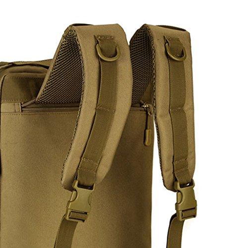 MagiDeal 35 Liter Taktischer Molle Wanderrucksack, Trekkingrucksack, Schultertasche Backpack, Handtasche - als Computer Tasche Braun