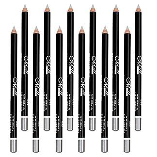 Pro 12pcs Set Eyeliner Makeup Waterproof Eye Lip Liner Lápiz 5 Color Elegir – Plata 34#