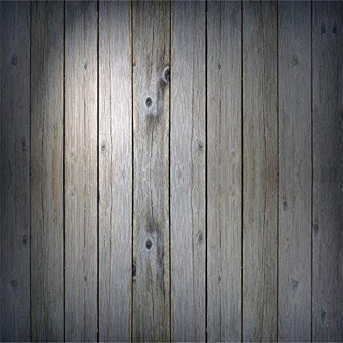 YongFoto 1,5x1,5m Vinyl Foto Hintergrund Holzboden Graue Hölzerne Rustikale Hölzerne Holz Brett Beschaffenheit Fotografie Hintergrund für Photo Booth Baby Party Banner Kinder Fotostudio Requisiten
