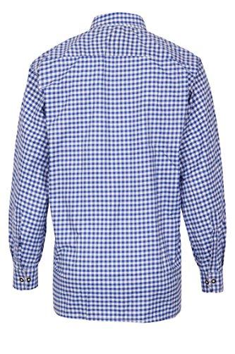 MS-Trachten Herren Trachtenhemd blauweiß kariert S - 2