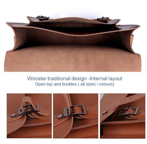 Wooster Britannique fait à la main en cuir Sacoche-Classique Collection-Grand Pastel Sky Blue