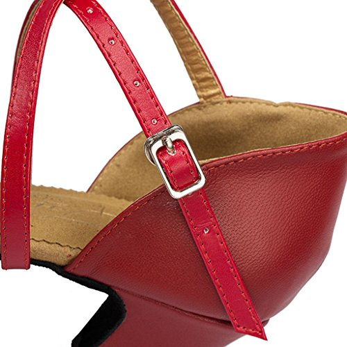 Meijili ,  Damen Tanzschuhe , rot – rot – Größe: 40 - 6