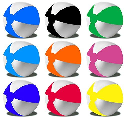 Preisvergleich Produktbild R5E1 Wasserball Strandball Ø ca. 28cm Strandspielzeug Strand Ball R5E1 (08 Pink-Weiss)