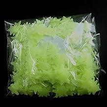 Sannysis® 100PC cameretta bellissimi adesivi fluorescenti Stelle parete