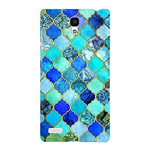 EYP Dark Blue Moroccan Tiles Pattern Back Cover Case for Xiaomi Redmi Note