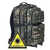 BRANDIT Back Bag Rucksack US COOPER lasercut dark camouflage