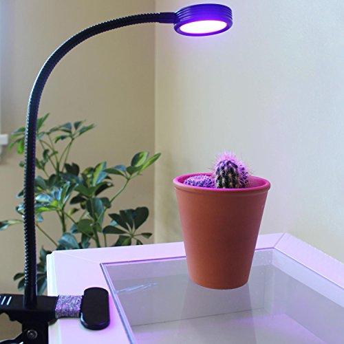 Ubegood LED Pflanzenlampe, Wachsen Lichter für Blumen Saatgut Gemüse Topf- und Zimmerpflanzen, Led Wachstumslampe Flexible Gooseneck, 2-Stufe Helligkeit [11 Rote, 5 Blaue][Energieklasse A+++]