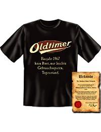 zum 50. Geburtstag Set T-Shirt und Urkunde - OLDTIMER BAUJAHR 1967 - kein Rost nur leichte Gebrauchsspuren Topzustand : )