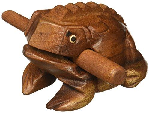 Deluxe Medium 10,2cm Holz Frosch Guiro Raspel-Musikinstrument Ton Block-von Welt Percussion USA nur - Holz Ton Block