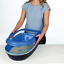 Trixie Berto higiénico con aislamiento para gato azul claro/Taupe/granito 39 x 22