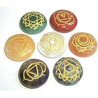 Sieben Chakra rund Cabochons Carving Reiki Set Crystal Healing metaphysisch Edelstein Feng Shui Geschenk Energie... preisvergleich bei billige-tabletten.eu