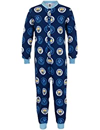 Manchester City FC Official Football Gift Boys Kids Pyjama All-in-One