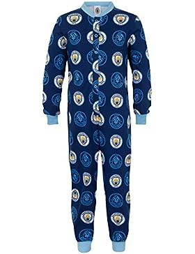 Manchester City FC - Pijama de una pieza para niños - Producto oficial
