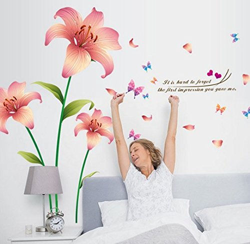 Newsbenessere.com 51QqB9V1LiL 1PCS New Design Wall Stickers Flower Removable Decal Home Decor Wallpaper Unique