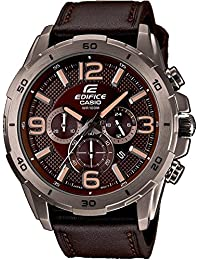 Casio Herren-Armbanduhr XL Edifice Analog Quarz Leder EFR-538L-5AVUEF