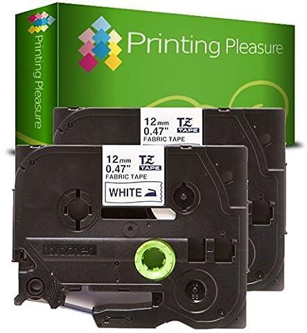 2 x TZe-FA3 / TZ-FA3 Bleu sur Blanc Ruban Cassette compatible pour BrotherP-Touch / 12mm x 3m