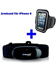 BLUETOOTH BRUSTGURT 4.0 + ARMBAND für iPhone 6 / 6S / 7 für RUNTASTIC, RUNTASTIC PRO , ROAD BIKE , MOUNTAIN BIKE App