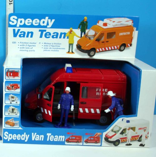 Speedy Van Team Friction Powered Fire Rescue Van With for sale  Delivered anywhere in UK