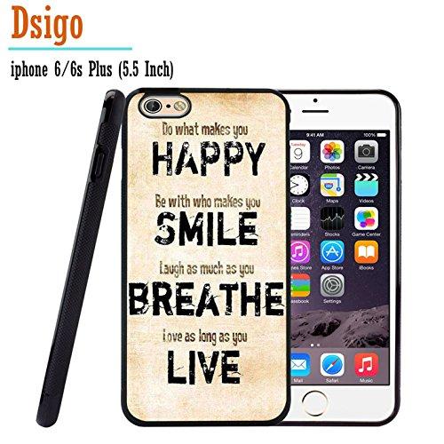 iPhone 6S Plus Fall, iPhone 6Plus Schutzhülle, dsigo TPU Schwarz Full Cover Schutzhülle für Neu Apple iPhone 6/6S Plus 14cm-Nebel Aztec Forever Young - - (2 Dollar I Phone 6 Fällen)