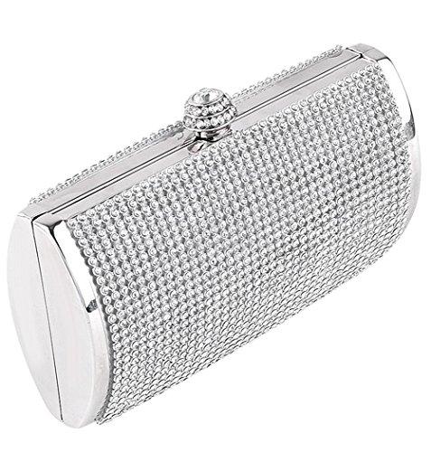 clorislove - Borsetta senza manici donna argento