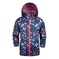 Mountain Warehouse Gizmo Kids Shell Jacket - Water Resistant Rain Coat, Lightweight, Chin Guard, Pocket, Durable Childrens Jacket - for Spring & Summer Travelling