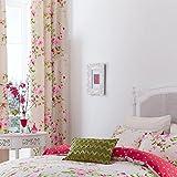 Turner Bianca Vorhänge, gefüttert, Canterbury Blumenmuster, 168x183cm, Rot/cremefarben