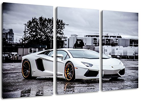 blanc-lamborghini-aventador-format-trois-pieces-ensemble-120x80-image-enfilees-sur-toile-des-images-