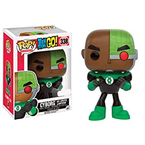 Funko POP TV Teen Titans Go Cyborg as Green Lantern Action Figure Exclusive by Teen Titans