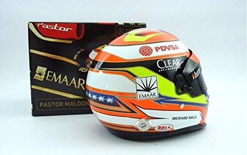 Casco Modelo Mini Fórmula Uno 1 Lotus F1 Team Pastor Maldonado 1/2 Es