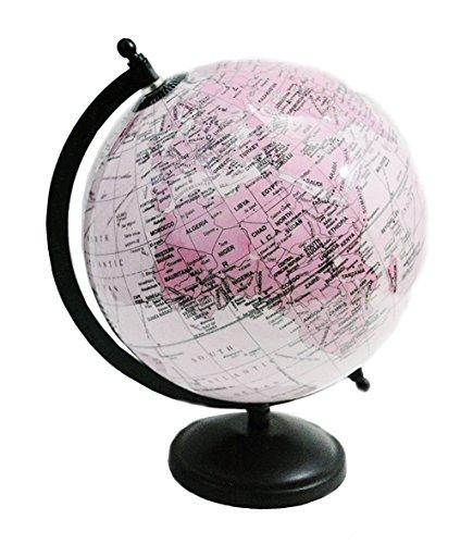 Decorativo escritorio decoración de la mesa rosa Color giratoria World Globe 11'pulgadas Mapa del mundo con soporte por' El Sr. Globo '