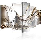 murando - Bilder 225x112 cm - Vlies Leinwandbild - 5 Teilig - Kunstdruck - Modern - Wandbilder XXL - Wanddekoration - Design - Wand Bild - Abstrakt Blumen a-A-0004-b-o