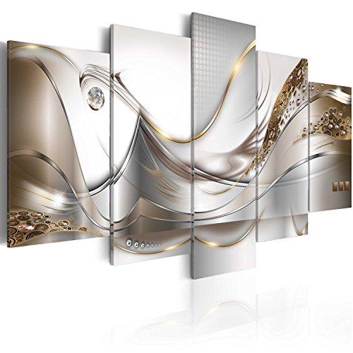 murando - Bilder 100x50 cm - Vlies Leinwandbild - 5 Teilig - Kunstdruck - modern - Wandbilder XXL - Wanddekoration - Design - Wand Bild - Abstrakt Blumen a-A-0004-b-o