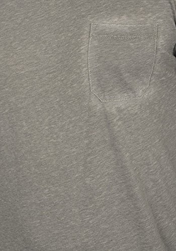 !Solid Toke Herren T-Shirt Kurzarm Shirt Rundhalsausschnitt Brusttasche Aus Hochwertiger Baumwollmischung Meliert Mid Grey (2842)