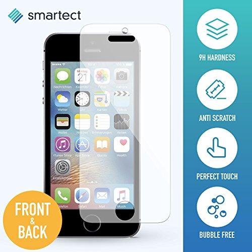 smartect iPhone SE/5/5s/5c Panzerglas Vorne und Hinten - Displayschutz mit 9H Härte - Blasenfreie Schutzfolie - Anti Fingerprint Panzerglasfolie