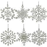 Ornamento di fiocco di neve set di 6 partito Decor 15,24 cm appeso set di 6