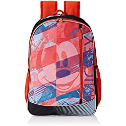 "Mickey Mouse Polyester Children's Backpack (ACT MK 1502 18""-RED)"