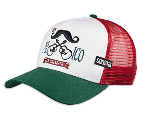 COASTAL - Mexican Mustache (white/green) - High Fitted Trucker Cap