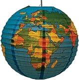 Vintage Globe Paper Lampshade