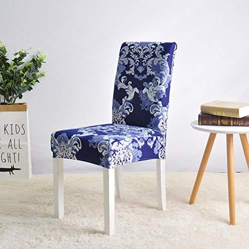 LLAAIT Abnehmbarer Stuhlhusse, dehnbar, elastisch, für Restaurants, Hochzeiten, Bankett, Hotelstuhl, Dunkelblau, Universalgrößen -
