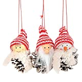 Longra Christmas Creative Old Man Doll Pequeño Colgante White Pine...