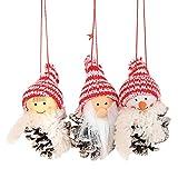 FeiliandaJJ Weihnachten kreative alte Mann Puppe Kleine hängende White Pine Cone Puppe hängen 3 Pie (D)